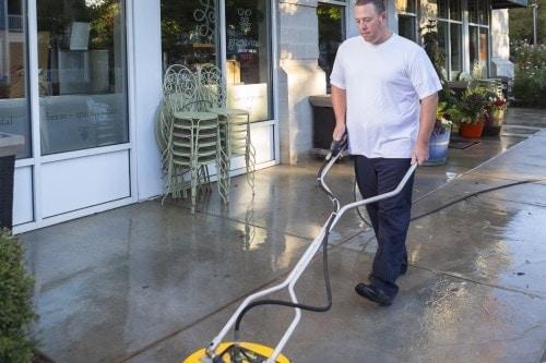 Pressure wash Concrete