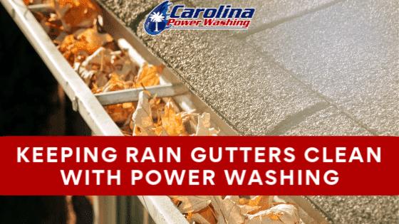 Rain Gutter Power Wash
