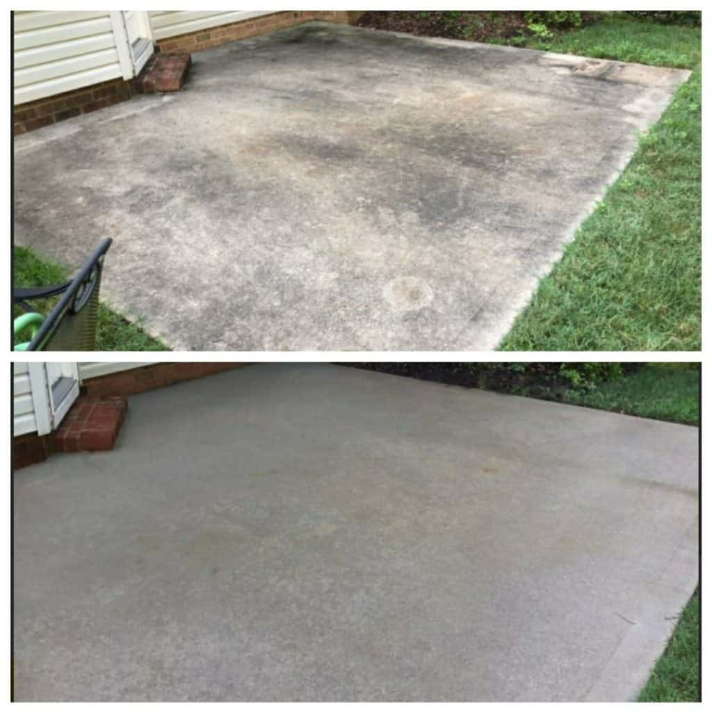 patio concrete cleaning south carolina