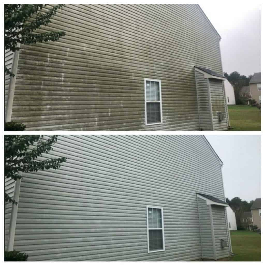 Before and After Soft Washing Charlotte NC