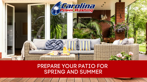 prepare your patio