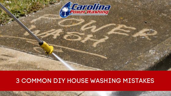 DIY house washing mistakes